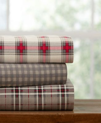 Plaid Flannel Queen Sheet Set