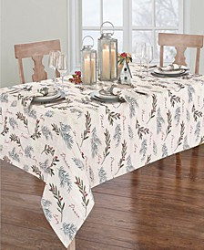 """Holiday Tree Trimmings Tablecloth - 60"""" x 84"""" Oval"""