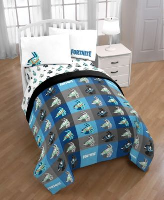 6 Pc Bed In Bag Sheet Set /& BONUS Sham Fortnite Gaming Boys Full Comforter