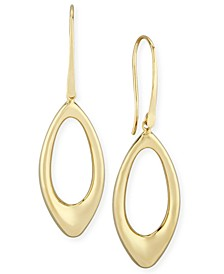 Open Teardrop Earrings Set in 14k Gold