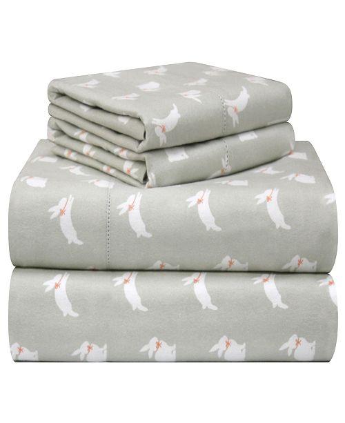 Pointehaven Printed Flannel King Sheet Set