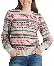 Lucky Brand Striped Fair Isle Sweater