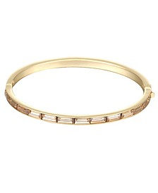 Gold-Tone Hinge Bangle Bracelet