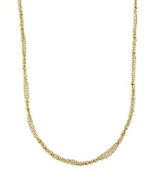14K Gold-Dipped Large Bead Stations Chain Necklace
