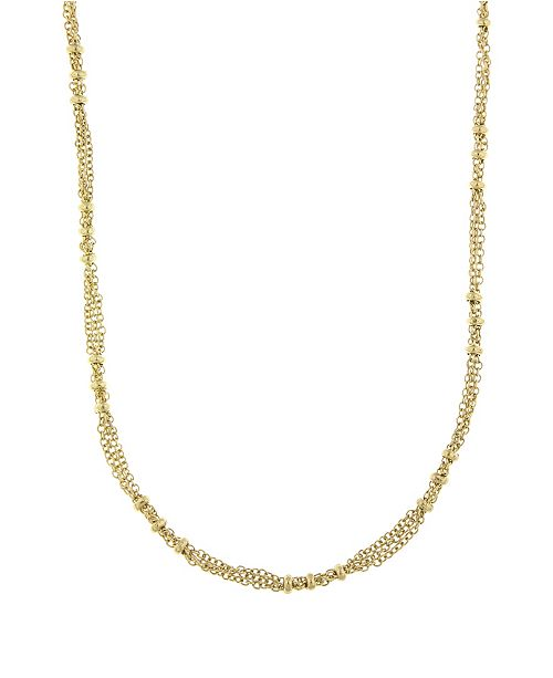 Downton Abbey 14K Gold-Dipped Large Bead Stations Chain Necklace