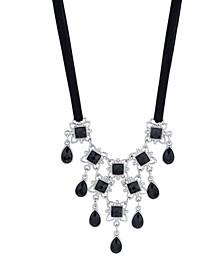 Ribbon Stone Drop Bib Necklace