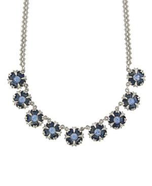 Crystal Enamel Collar Necklace