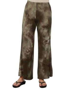 24Seven Comfort Apparel Women Comfortable Green Palazzo Pants
