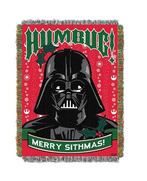 Northwest Company Star Wars Christmas Tapestry Throw