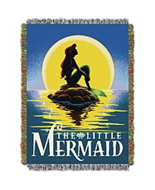 Little Mermaid Poster Tapestry Throw
