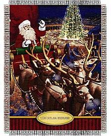 The Polar Express Santa Flight Tapestry Throw