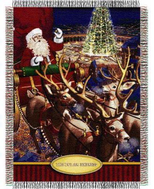 Northwest Company The Polar Express Santa Flight Tapestry Throw