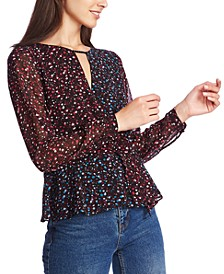 Floral-Print Cross-Front Top