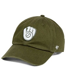 Milwaukee Brewers Olive White CLEAN UP Cap