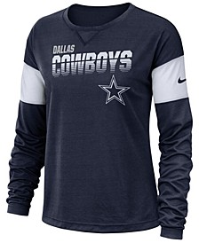 Women's Dallas Cowboys Breathe Long Sleeve Top