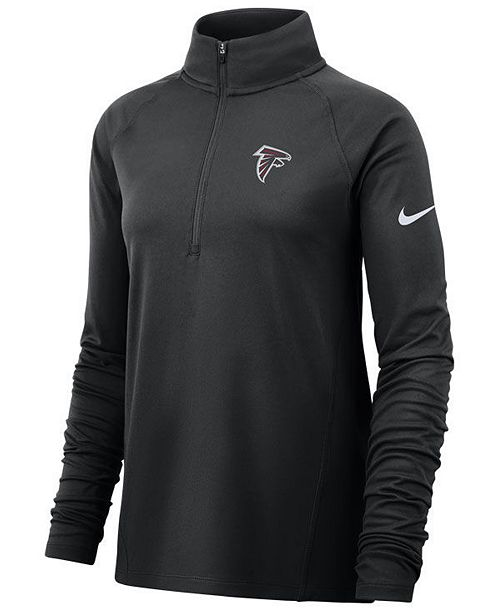 Nike Women's Atlanta Falcons Pro Half-Zip Element Pullover