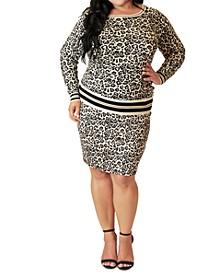 Plus Size Animal Print Sweater