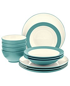 Colorwave Coupe 12-Piece Dinnerware Set, Service for 4, Created for Macy's