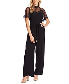 Flocked Illusion Jumpsuit
