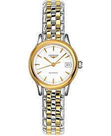 Women's Swiss Automatic Flagship Two-Tone Stainless Steel Bracelet Watch 26mm