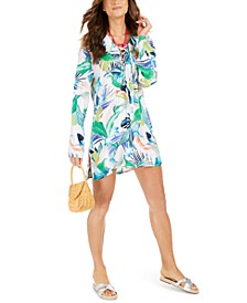 In the Moment Printed Tunic Cover-Up