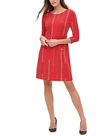 Chain-Print Jersey Dress