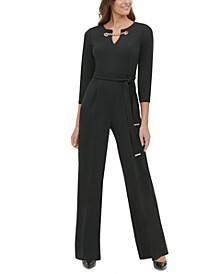 Grommet-Neck Jumpsuit