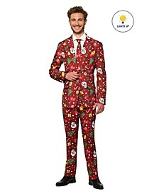 Men's Christmas Red Icons Christmas Light Up Suit
