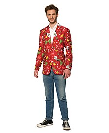 Men's Christmas Red Icons Christmas Light Up Blazer
