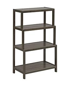 Dunnsville 4-Tier Step Back Shelf Bookcase