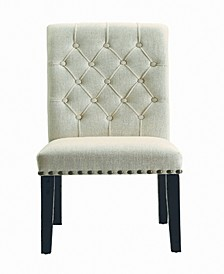 Capistrano Upholstered Dining Side Chairs with Button Tufting, Set of 2