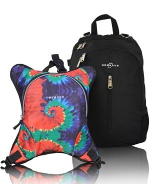 Obersee Rio Diaper Backpack In Black