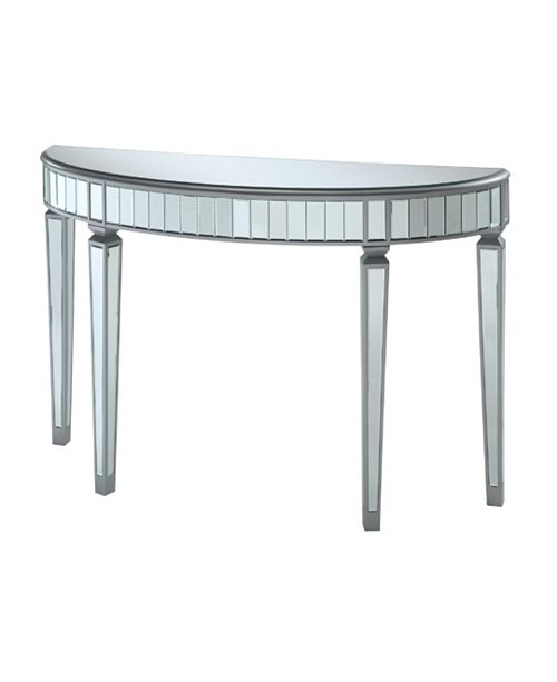 Coaster Home Furnishings Pittsburg Half Oval Mirrored Console Table