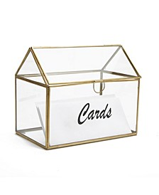 Glass Card Holder Box, Wedding Card Clear Box