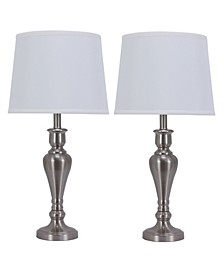 Decor Therapy Set of 2 Marie Touch Control Table Lamps