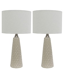 Decor Therapy Set of Two Jameson Textured Table Lamps Set of 2