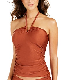 V-Wire Halter Tankini Top