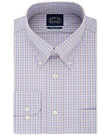 Men's Slim-Fit Non-Iron Flex Collar Check Dress Shirt