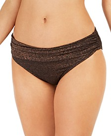 Day Glow Ruched Hipster Bikini Bottoms