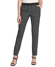 Lace-Printed Drawstring Pants