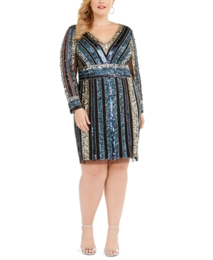 Adrianna Papell Dresses PLUS SIZE EMBELLISHED SHEATH DRESS