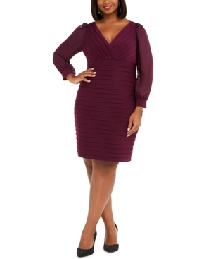Adrianna Papell Dresses PLUS SIZE BANDAGE DRESS