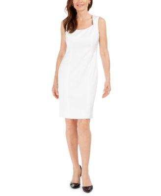 Tonal-Print Sheath Dress