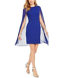 Chiffon Capelet Sheath Dress