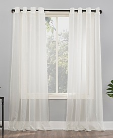 """Emily 59"""" x 120"""" Sheer Voile Curtain Panel"""