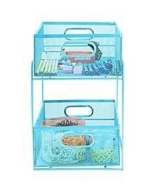 2 Tier Storage Basket Organizer