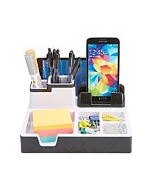 USB Port Desk Supplies Organizer with Charging Station