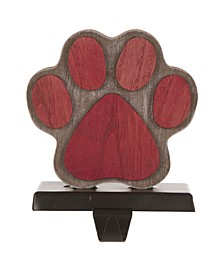 "6.30"" H Wooden Paw Stocking Holder"