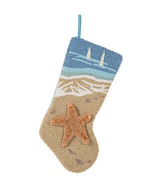 "19"" L Hooked 3D Starfish Stocking"