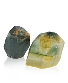 Glow Gems Set of 2 Handcrafted Natural Gemstone Soaps - West Indian Sandalwood